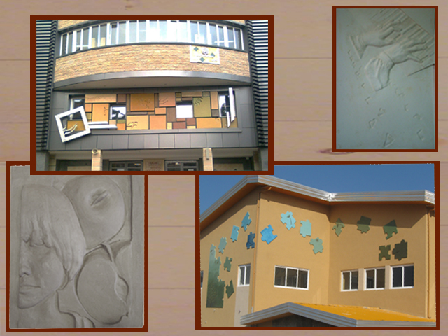 طراحی و ساخت انواع نقش برجسته برای فضای داخلی و خارجی ساختمان